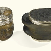 10. two silver-mounted snuff boxes, german, mid to late 18th century