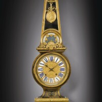 29. a french restaurationgilt-bronze and tortoiseshell and brass boulle marquetry bracket clock and barometer,circa 1830  
