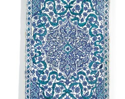 180. a large blue and white iznik tile, turkey, late 16th century