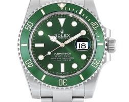 2006. 勞力士 | 116610lv型號「hulk」精鋼錬帶腕錶備日期顯示,錶殼編號5310w170,約2017年製。