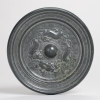 116. a bronze 'mythical beasts' mirror with inscription sui/early tang dynasty
