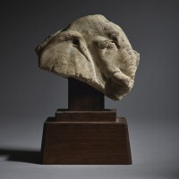 2. a marble stone fragment of an elephant head tang dynasty |