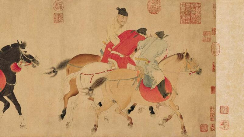 'Five Drunken Princes' – A Rare Surviving Scroll by Master Ren Renfa