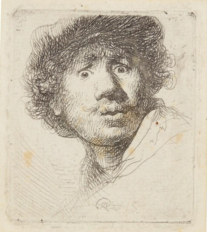 Rembrandt van Rijn, Self-Portrait in a Cap