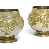 7. two silver-gilt bratinas, mid 17th century |