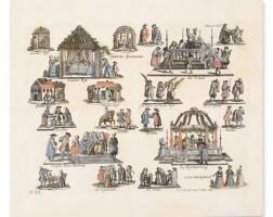 76. jüdische ceremonien (jewish ceremonies), [nuremburg] j.p. wolff seel erben: ca. 1730