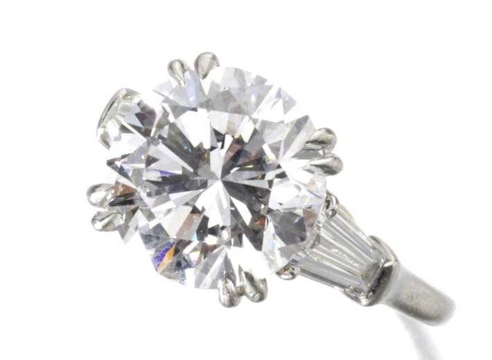 Harry Winston E Flawless Diamond Ring