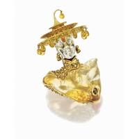 807. opal, yellow sapphire and diamond brooch