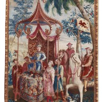 122. a beauvais chinoiserie tapestry, from the series 'the story of the emperor of china' late 17th/first quarter 18th century