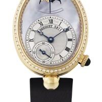 218. 寶璣(breguet) | 8908型號「reine de naples」女裝黃金鑲鑽石腕錶備動力儲存顯示,年份約2006。