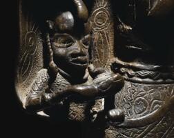 73. plaque en bronze, edo, royaume du benin, nigeria, xvie-xviie siècles