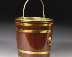 304. a regency brass bound mounted mahogany bucket early 19th century