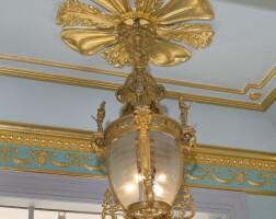1. a large gilt-bronze hall lantern