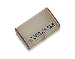 1642. 白水晶, 瑪瑙, 縞瑪瑙配琺瑯彩及鑽石煙盒, 寶詩龍(boucheron)