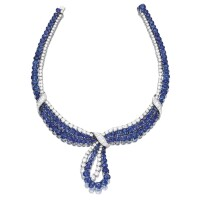 1619. 藍寶石配鑽石項鏈, 海瑞溫斯頓(harry winston)