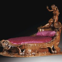 22. french, second half 19th century, an exceptional carved mahogany bed