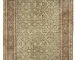 13. a large amritsar carpet, circa 1920, from the duke de trévise collection  
