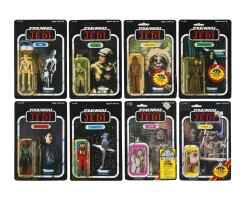 34. eight star wars return of the jedi '79-back' action figures, 1984