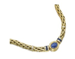 8. sapphire and diamond necklace
