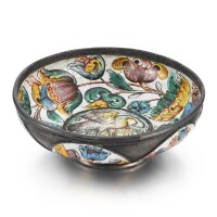 6. an enamelled silver bowl, solvychegodsk, late 17th century |