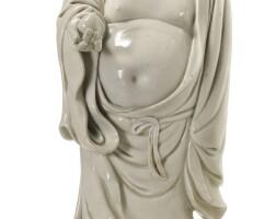 106. a dehua figure of budai qing dynasty, 18th century