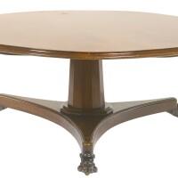 42. a william iv mahogany circular dining table circa 1830