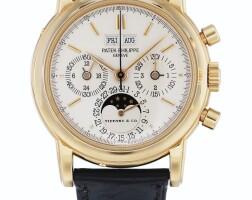 234. 百達翡麗(patek philippe) | 零售商為蒂芙尼:3971e型號粉紅金萬年曆計時腕錶備月相、24小時及閏年顯示,1989年製。