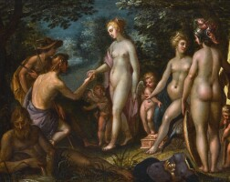 141. antwerp school, early 17th century   the judgement of paris