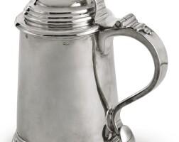 4004. an american silver tankard, jacob hurd, boston, circa 1735