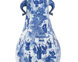 47. a blue and white hexagonal vasechina, qing dynasty, 19th century |