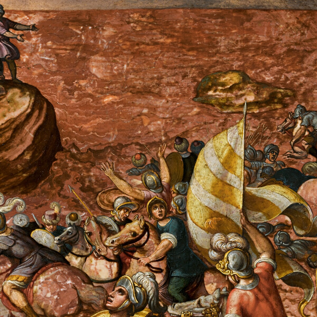 The Red Sea and the Wrath of God in Antonio Tempesta's Masterpiece on Marble