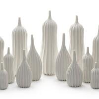 36. andrew wicks   garniture of nineteen vases