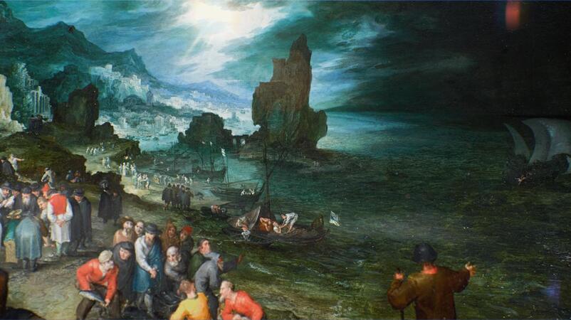 Experience Jan Brueghel's Stormy Seas Like Never Before