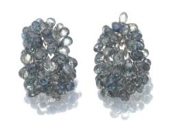23. pair of sapphire earrings, verdura