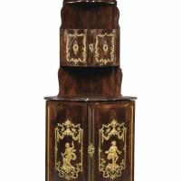 3. encoignureàétagère en placage de palissandre et bronze doré d'époque régence, vers 1720