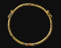 77. a gold torque, probably sarmatian, northern black sea area or central asian steppes, circa 1st/2nd century a.d. | a gold torque, probably sarmatian, northern black sea area or central asian steppes