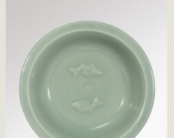 2. a 'longquan' celadon 'twin fish' dish southern song dynasty