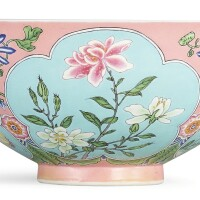 1. a superbly enamelled, fine and exceedingly rare pink-ground falangcai bowl puce-enamel yuzhi mark and period of kangxi  