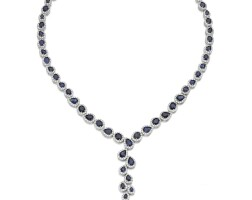 73. sapphire and diamond necklace