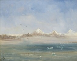 280. spitsbergen, norway, oil painting, 24 july 1838