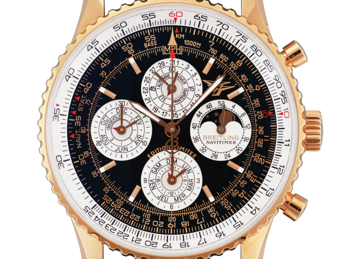 Breitling watch in an auction selling luxury watches