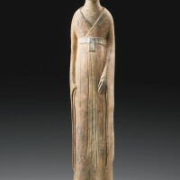 18. a large painted pottery figure of an official northern wei dynasty