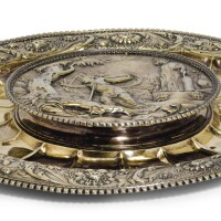 609. a continental silver-gilt dish, unmarked, probably dutch, 17th century and circa 1800 |