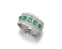 204. 祖母綠配鑽石手鏈, 卡地亞(cartier)