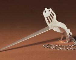 5. an israeli sculptural silver torah pointer withlion, avi biran, jerusalem, circa 2000 |
