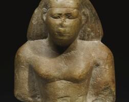 7. an egyptian quartzite bust of a man, 26th dynasty, 664-525 b.c.