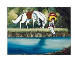 1018. 騎士公主 by 蟲製作公司   藍寶動畫手稿(手塚製作公司蓋印)
