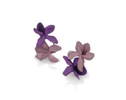1634. 鋁耳環 一對, 'violet', jar