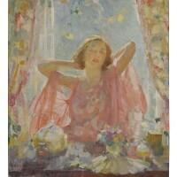 6. walter biggs | portrait of mildred biggs in window
