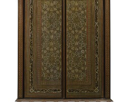 256. an armoire decorated with qajar khatamkari panels, persia, 19th and 20th century  